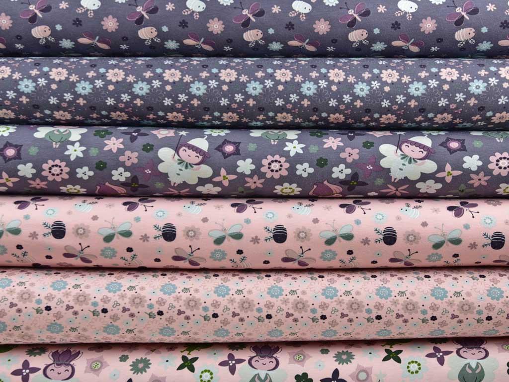 jersey waldm nnchen blumen rosa wunderland der stoffe weidenweg 5 40822 mettmann deutschland. Black Bedroom Furniture Sets. Home Design Ideas