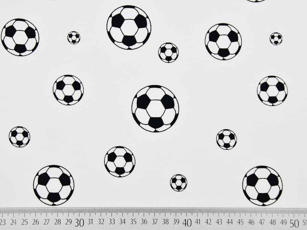 Jersey Fussball Schwarz Weiss Wunderland Der Stoffe