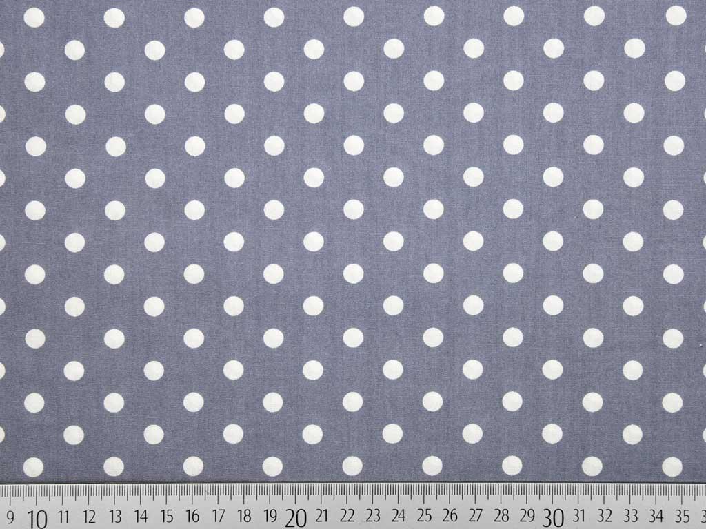 ccf3e06abe Baumwolle Punkte 7 mm, weiss grau (bläulich) - Wunderland der Stoffe