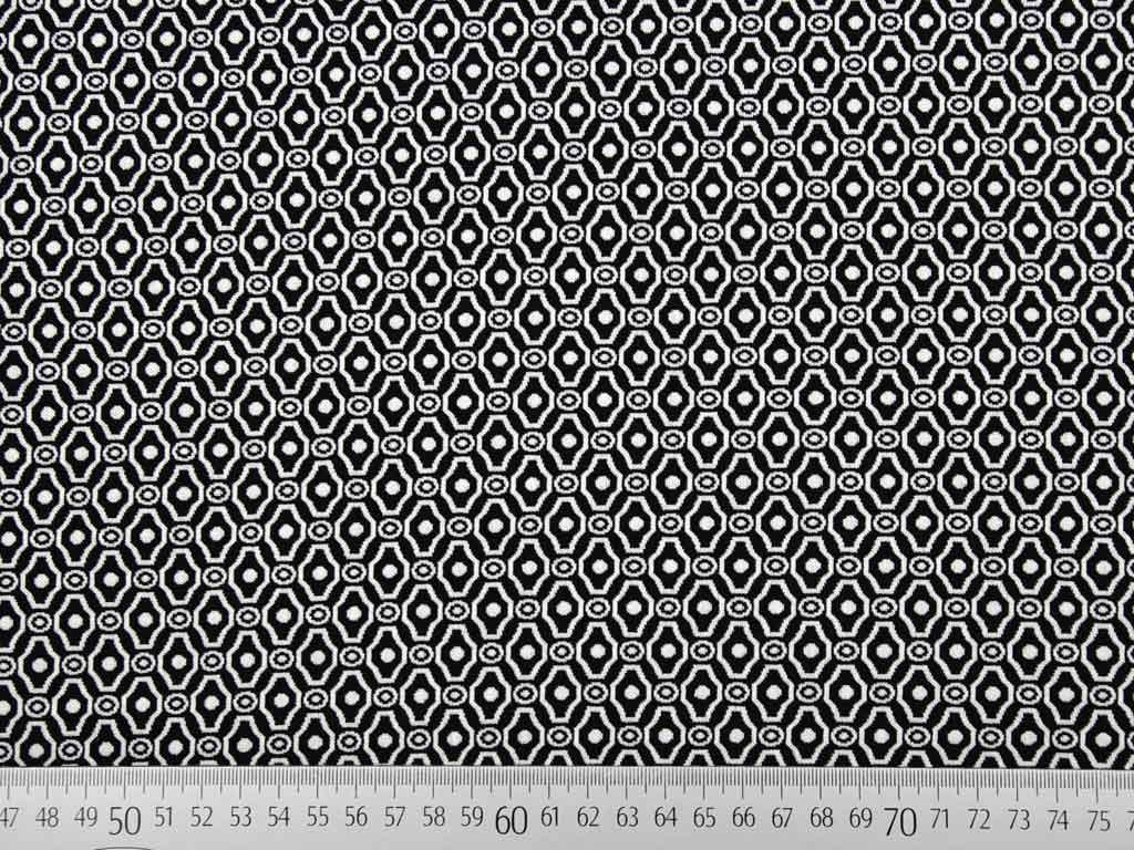elastischer jacquard ornamente schwarz weiss wunderland der stoffe weidenweg 5 40822. Black Bedroom Furniture Sets. Home Design Ideas