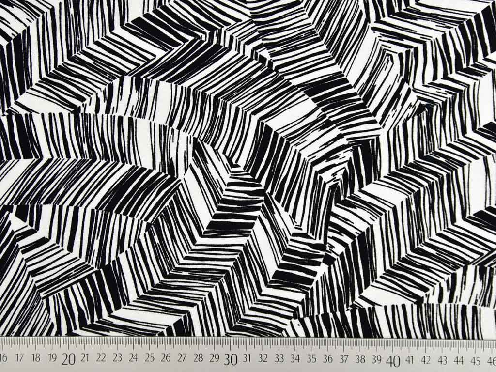 Blusenstoff Stoffe Meterware Chiffon grafisches Muster Stoff Viskose