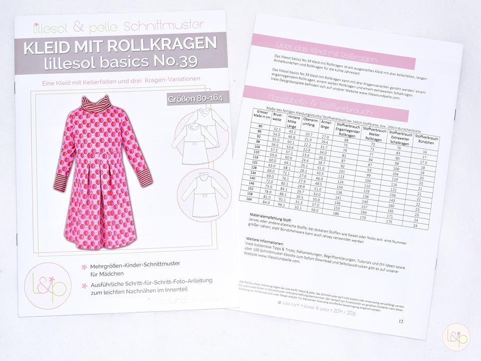 Lillesol No.39 Kleid mit Rollkragen Schnittmuster - Wunderland der ...