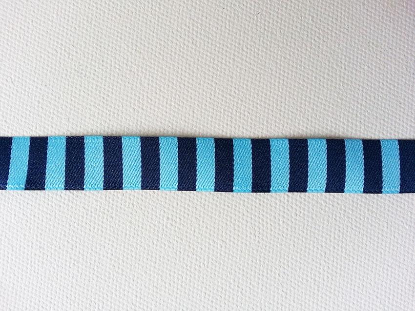 1 m Webband maritime Motive blau weiß 15 mm