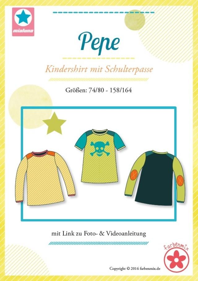 Pepe Kindershirt mit Schulterpasse Schnittmuster - Wunderland der ...