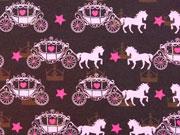 Jersey Pferd mit Kutsche & Sternen, braun