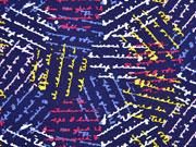 Jersey Schriften, dunkelblau