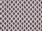 RESTSTÜCK 30 cm Viskose Wellen, grau taupe weiß