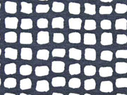 RESTSTÜCK 135 cm Viskosejersey Quadrate, dunkelgrau weiß