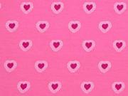Jersey Herzen, rosa