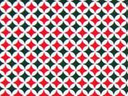 Baumwolle Mini Rauten, rot grün