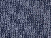 RESTSTÜCK 70 cm Steppstoff Rauten dunkelblau meliert