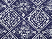 Viskose bestickt Rauten Stickerei, dunkelblau