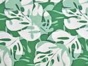 Jersey Palmenblatt grün weiß