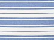 Baumwollstoff Streifen in blau-weiss