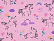 Baumwolle Einhorn Regenbogen, rosa