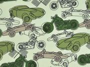 Baumwolle Autos Motorräder, grün