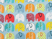 leicht angerauter Sweat Elefanten, hellblau