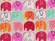 leicht angerauter Sweat Elefanten, hellbeige rosa