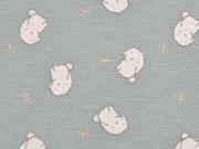 Bio-Jersey kleine Hunde, cremeweiß grau