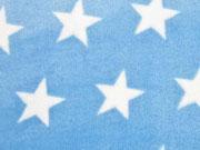 RESTSTÜCK 69 cm Wellness Fleece Flanell Jacquard Sterne, hellblau