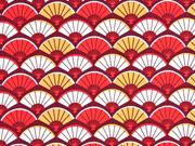 Baumwolle Fächer, rot
