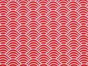 Baumwolle Wellen, rot