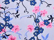 Baumwolle Blumen, hellblau
