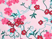 Baumwolle Blumen, rosa