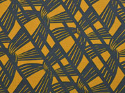 Jersey grafisches Muster, senfgelb dunkelgrau