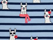 Sweat Lamas Streifen, blau