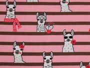 Sweat Lamas Streifen, rosa