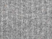 Strickstoff Rippen, grau melange