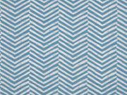 Sweat Pfeilspitzen leicht angeraut, hellblau blau