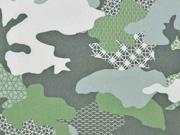 Softshell Camouflage Gitter, khaki-oliv