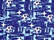 RESTSTÜCK 66 cm Jersey Glow in the Dark Fußbälle, blau