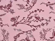Sweat Vögel Äste Zweige, rosa
