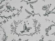 Sweat Vögel Äste Zweige, hellgrau