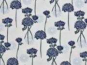 Sweat Blumen, hellblau