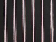 Viskosetwill Glitzer Streifen, schwarz