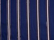 Viskosetwill Glitzer Streifen, dunkelblau