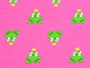 Jersey Frosch mit Kröne, pink