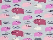Jersey Flusspferde, rosa hellgrau