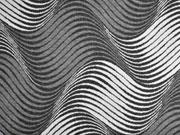 Jacquard Strick geometrisches Wellen meliert, anthrazit