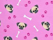 Jersey Hundgesichter Tatzen Knochen, rosa