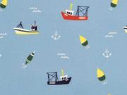 Softshell Boote Anker Wellen, hellblau