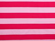 Jersey Blockstreifen, rosa pink