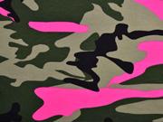 Jersey Camouflage, pink khaki