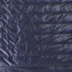 Steppstoff Streifen wattiert glänzend, dunkelblau