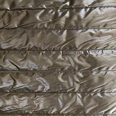 Steppstoff Streifen wattiert glänzend, taupe