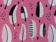 Jersey Federn & Kreuze, sorbet pink